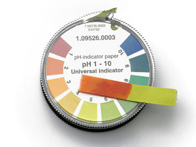 pH testing strips can be used for soil pH