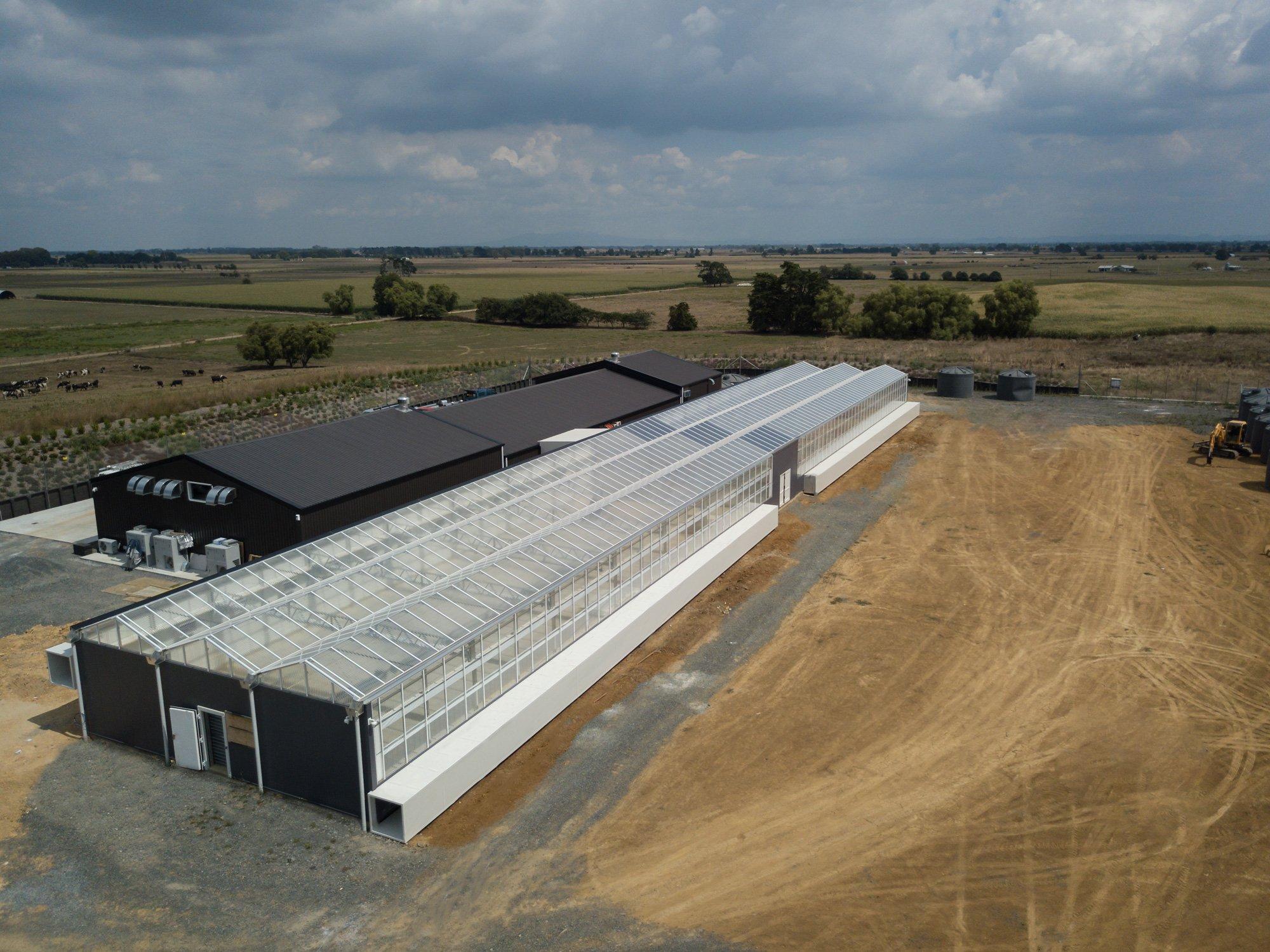 Exterior shot of the Cannasouth facilities in Waikato