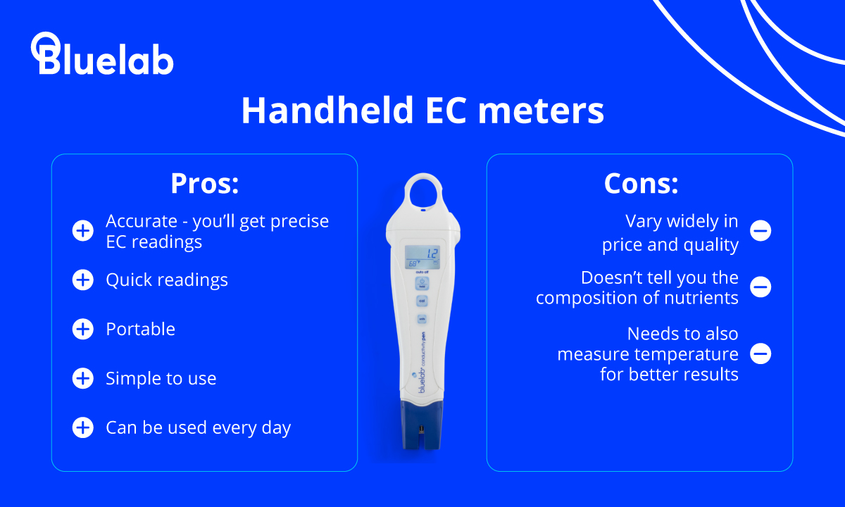 Pros and cons of handheld EC meters