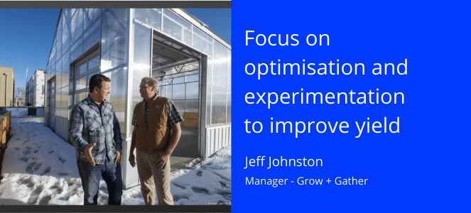 Jeff Johnston of Grow + Gather talking with a colleague