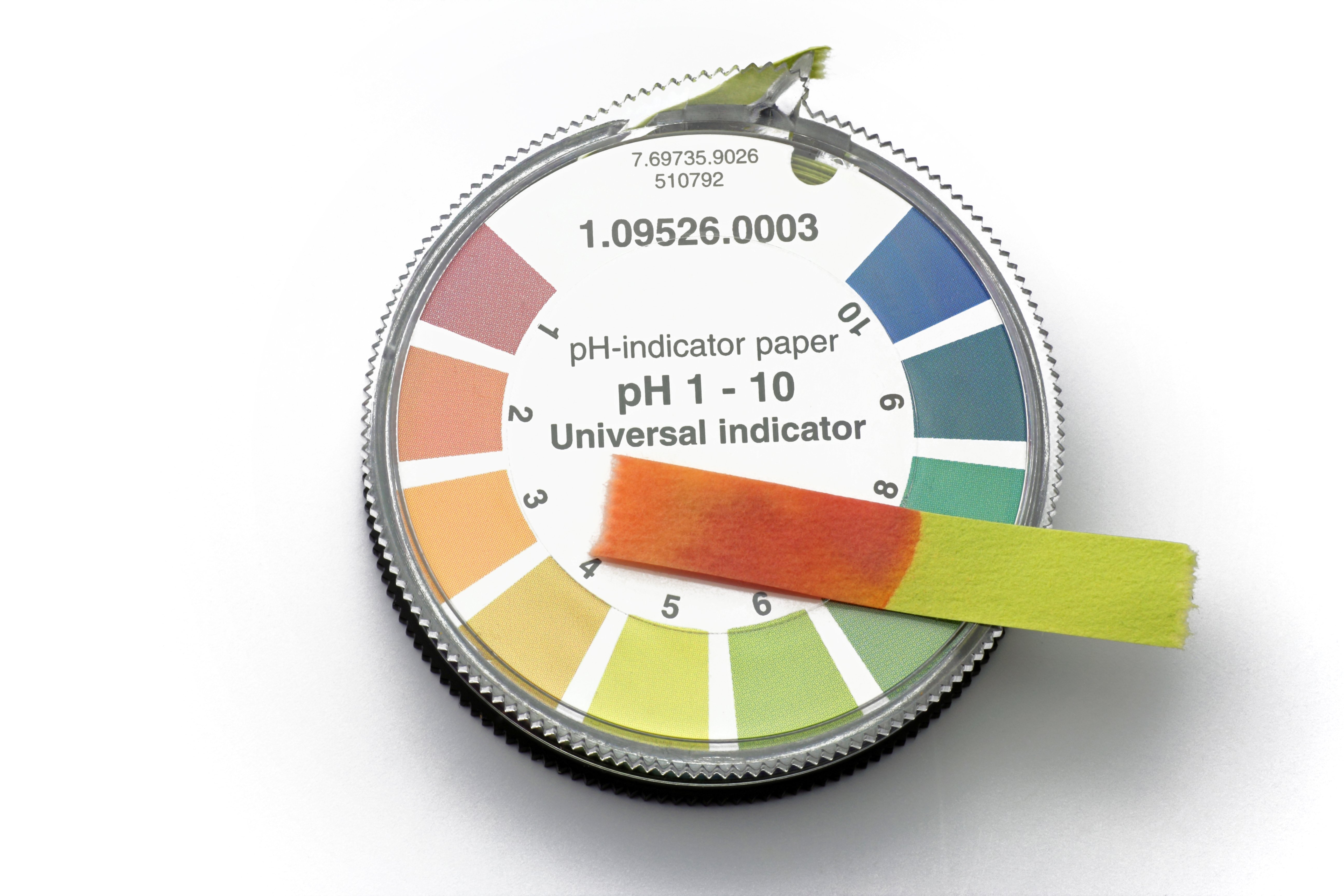 pH testing strips can be used to test your pH